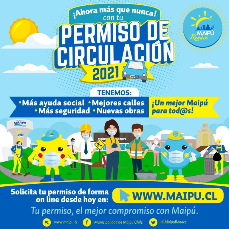 Pago ONLINE y presencial de Permisos de Circulación 2021